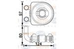 Chłodnica oleju silnikowego BEHR HELLA SERVICE 8MO 376 797-091 BEHR HELLA SERVICE 8MO376797-091