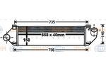 Chłodnica powietrza doładowującego - intercooler BEHR HELLA SERVICE 8ML 376 900-581 BEHR HELLA SERVICE 8ML376900-581