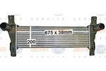 Chłodnica powietrza doładowującego - intercooler BEHR HELLA SERVICE 8ML 376 900-611 BEHR HELLA SERVICE 8ML376900-611