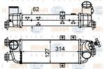 Chłodnica powietrza doładowującego - intercooler BEHR HELLA SERVICE 8ML 376 988-214 BEHR HELLA SERVICE 8ML376988-214