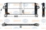 Chłodnica powietrza doładowującego - intercooler BEHR HELLA SERVICE 8ML 376 988-354 BEHR HELLA SERVICE 8ML376988-354