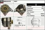 Alternator DELCO REMY DRA3418