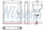 Nagrzewnica ogrzewania kabiny NISSENS  72065