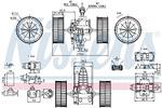 Silnik elektryczny, dmuchawa wewnętrzna NISSENS  87117