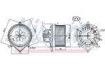Silnik elektryczny, dmuchawa wewnętrzna NISSENS 87233 NISSENS 87233