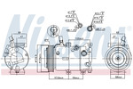 Kompresor klimatyzacji NISSENS 890237 NISSENS 890237