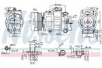 Kompresor klimatyzacji NISSENS  89026