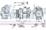 Kompresor klimatyzacji NISSENS  890306