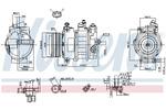 Kompresor klimatyzacji NISSENS 89031 NISSENS 89031