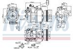Kompresor klimatyzacji NISSENS  89073-Foto 5
