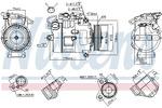 Kompresor klimatyzacji NISSENS 89116 NISSENS 89116