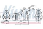 Kompresor klimatyzacji NISSENS 89196 NISSENS 89196