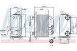 Chłodnica oleju silnikowego NISSENS 90621 NISSENS 90621