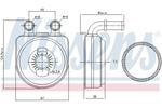 Chłodnica oleju silnikowego NISSENS 90650 NISSENS 90650
