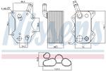 Chłodnica oleju silnikowego NISSENS 90660 NISSENS 90660