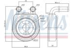 Chłodnica oleju silnikowego NISSENS 90701 NISSENS 90701