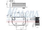 Chłodnica oleju silnikowego NISSENS 90711 NISSENS 90711