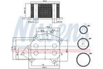 Chłodnica oleju silnikowego NISSENS 90717 NISSENS 90717