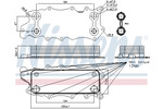 Chłodnica oleju silnikowego NISSENS 90784 NISSENS 90784