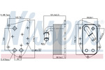 Chłodnica oleju silnikowego NISSENS 90804 NISSENS 90804