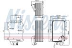 Chłodnica oleju silnikowego NISSENS 90807 NISSENS 90807