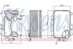 Chłodnica oleju silnikowego NISSENS 90852 NISSENS 90852