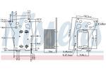 Chłodnica oleju silnikowego NISSENS 90902 NISSENS 90902