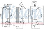 Chłodnica oleju silnikowego NISSENS 90916 NISSENS 90916