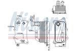 Chłodnica oleju silnikowego NISSENS 90918 NISSENS 90918
