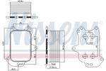 Chłodnica oleju silnikowego NISSENS 90966 NISSENS 90966