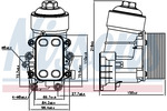 Chłodnica oleju silnikowego NISSENS 91158 NISSENS 91158