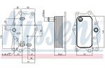 Chłodnica oleju silnikowego NISSENS 91165 NISSENS 91165