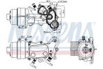 Chłodnica oleju silnikowego NISSENS 91167 NISSENS 91167