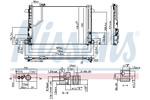 Chłodnica klimatyzacji - skraplacz NISSENS 940035 NISSENS 940035