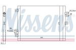 Chłodnica klimatyzacji - skraplacz NISSENS 940190 NISSENS 940190