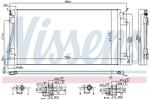 Chłodnica klimatyzacji - skraplacz NISSENS 94660