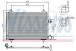 Chłodnica klimatyzacji - skraplacz<br>NISSENS<br>94723