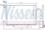 Chłodnica klimatyzacji - skraplacz<br>NISSENS<br>94910