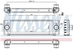 Chłodnica powietrza doładowującego - intercooler NISSENS 96066 NISSENS 96066