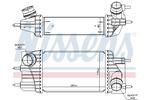 Chłodnica powietrza doładowującego - intercooler NISSENS 961433 NISSENS 961433