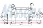 Chłodnica powietrza doładowującego - intercooler NISSENS 96207 NISSENS 96207