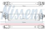 Chłodnica powietrza doładowującego - intercooler NISSENS 96311 NISSENS 96311