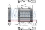 Chłodnica powietrza doładowującego - intercooler NISSENS 96366 NISSENS 96366
