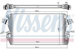 Chłodnica powietrza doładowującego - intercooler NISSENS 96455 NISSENS 96455