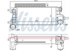 Chłodnica powietrza doładowującego - intercooler NISSENS 96490 NISSENS 96490