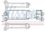 Chłodnica powietrza doładowującego - intercooler NISSENS 96514 NISSENS 96514