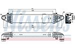 Chłodnica powietrza doładowującego - intercooler NISSENS 96535 NISSENS 96535