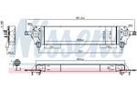 Chłodnica powietrza doładowującego - intercooler NISSENS 96580 NISSENS 96580