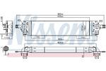 Chłodnica powietrza doładowującego - intercooler NISSENS 96582 NISSENS 96582