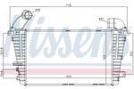 Chłodnica powietrza doładowującego - intercooler NISSENS 96590 NISSENS 96590